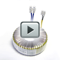 Toroidal power transformer for halogen lamps